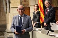 Marc Noy receives the Monturiol Medal